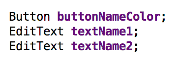 Variables for name color