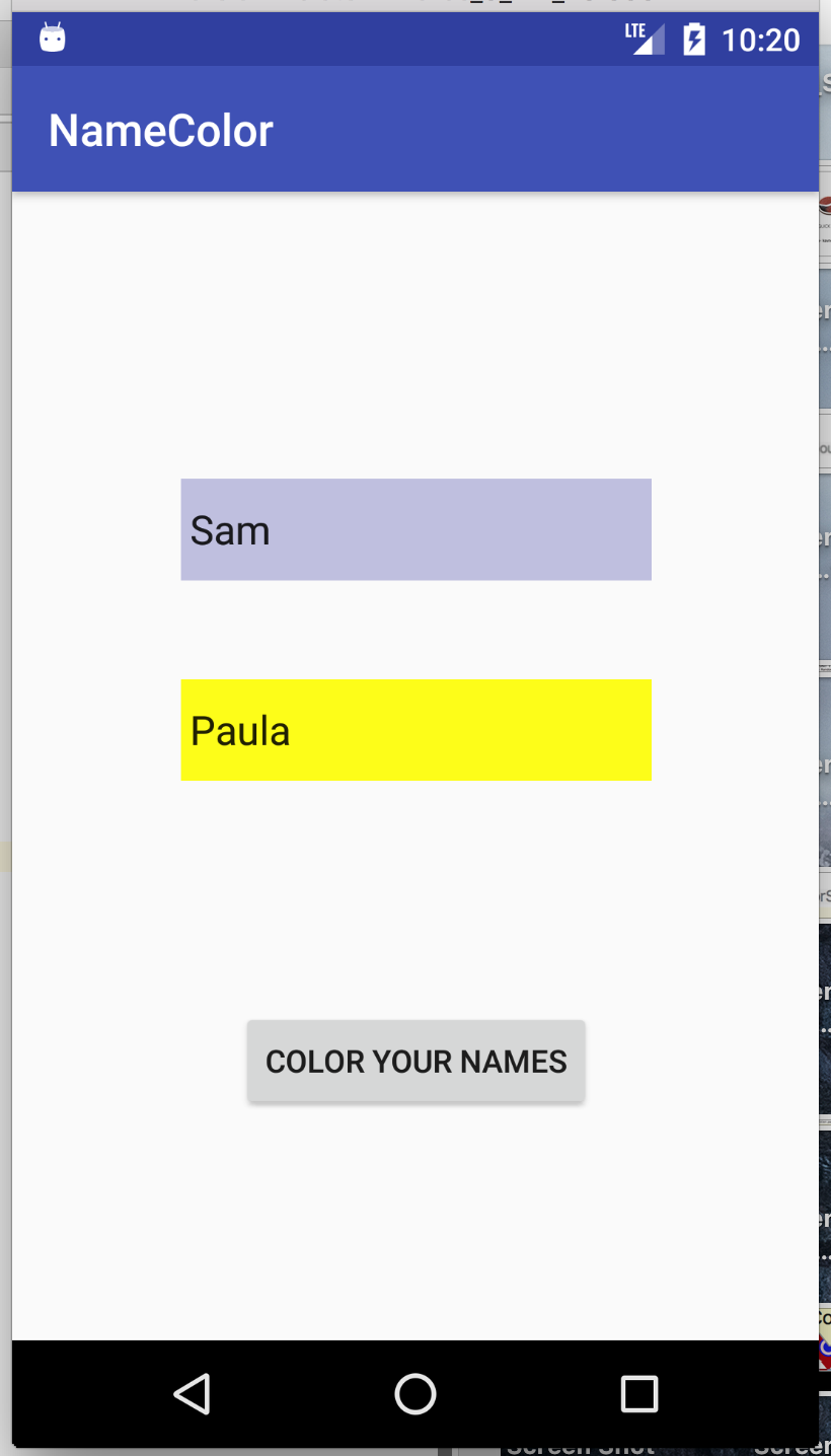 Final look of app name color