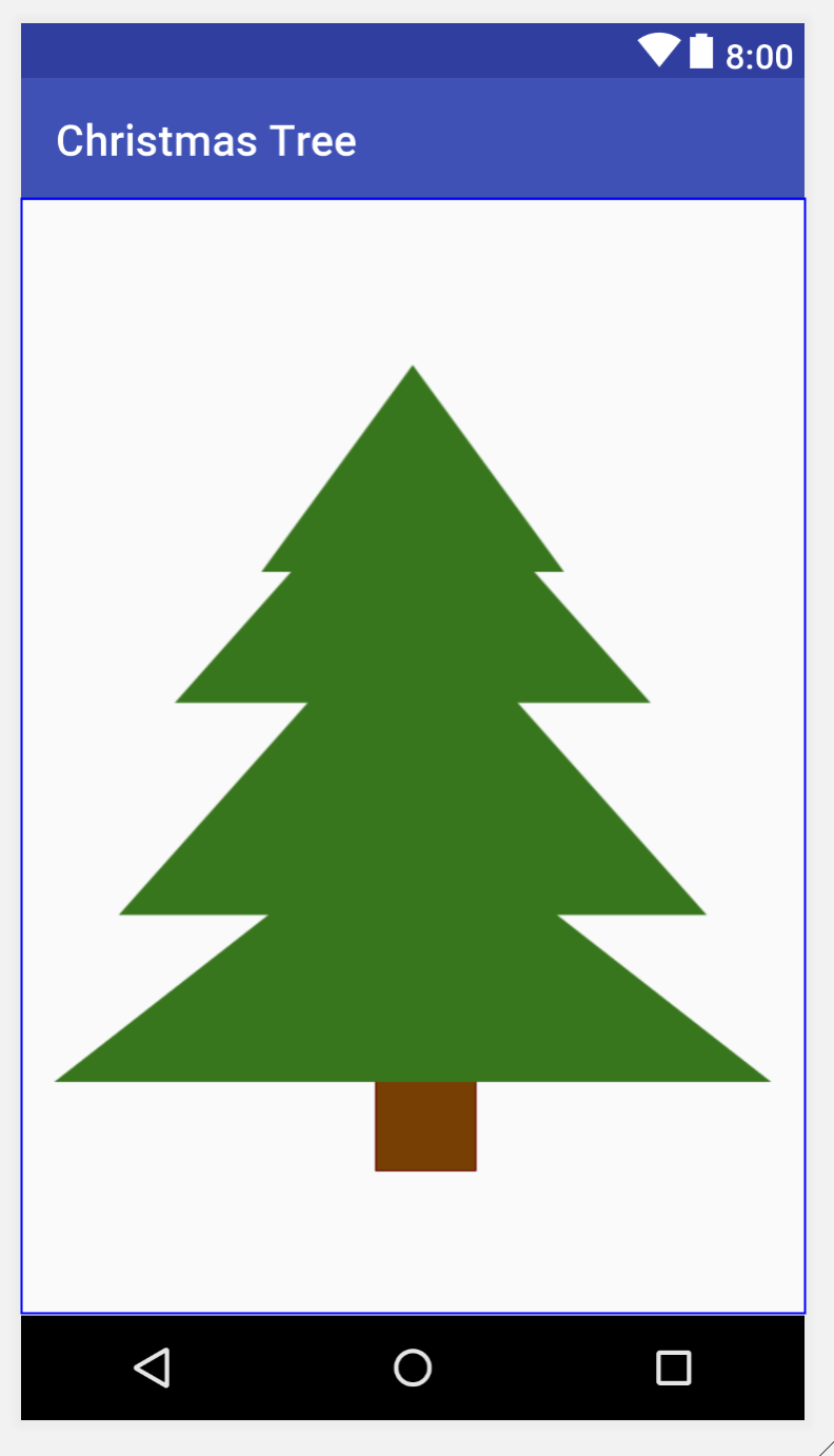Activity with Christmas tree