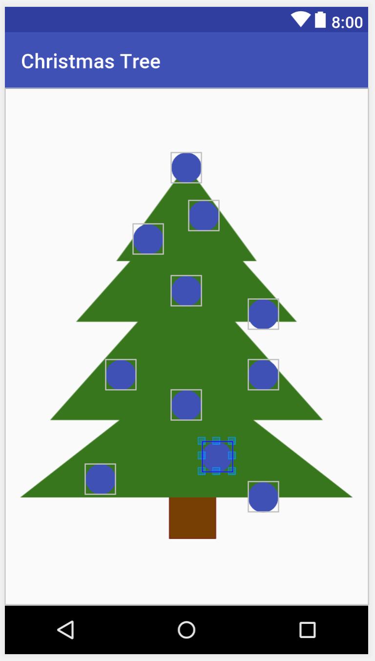 Activity with Christmas tree and Light Bulbs